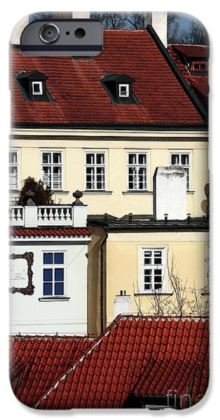 Prague Houses iPhone Case by John Rizzuto