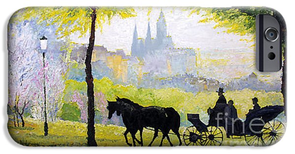 Summer Light iPhone Cases - Prague Midday Walk in the Petrin Gardens iPhone Case by Yuriy Shevchuk