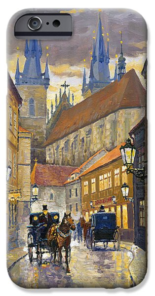 Buildings iPhone Cases - Prague Old Street Stupartska iPhone Case by Yuriy Shevchuk