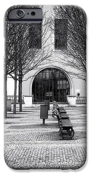 Prague Park Benches iPhone Case by John Rizzuto