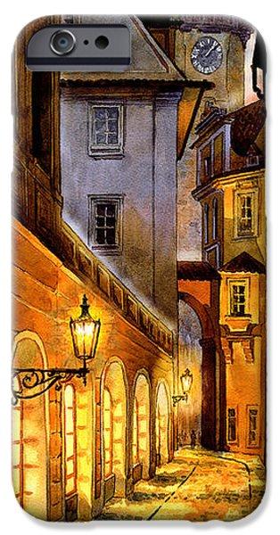 Charles Bridge Digital Art iPhone Cases - Prague Street Melantrichova iPhone Case by Dmitry Koptevskiy