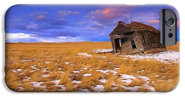 Creepy iPhone Cases - Prairie Castle  iPhone Case by Kadek Susanto