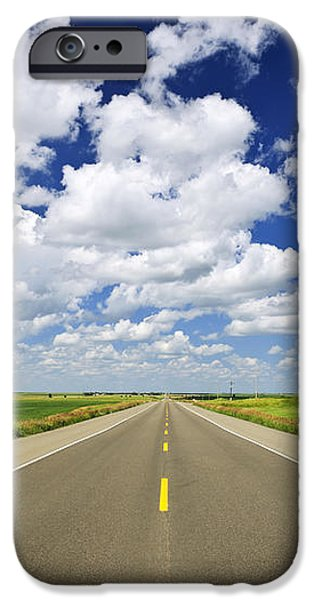 Prairie highway iPhone Case by Elena Elisseeva