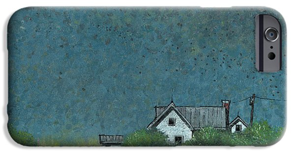 Prairie iPhone Cases - Prairie Homestead iPhone Case by John Wyckoff