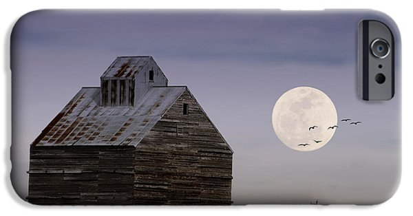 Old Barns iPhone Cases - Prairie Lullaby iPhone Case by Karen Slagle