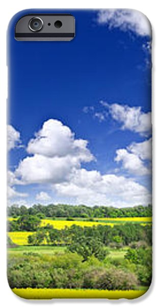 Prairie panorama in Saskatchewan iPhone Case by Elena Elisseeva