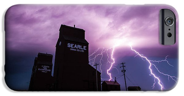 Lightning Bolts iPhone Cases - Prairie Tempest iPhone Case by Ian MacDonald