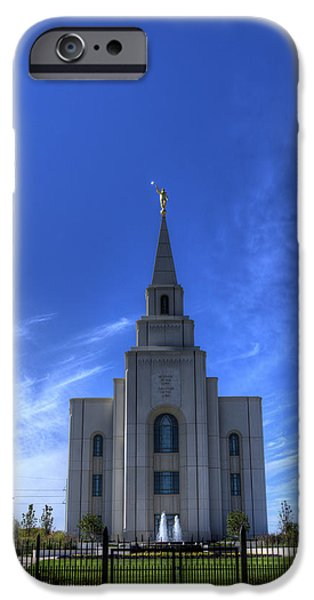 Angel Moroni iPhone Cases - Prairie Temple iPhone Case by Kevin  Ellis