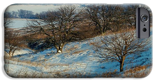 Prairie Landscape iPhone Cases - Prairie Winter iPhone Case by Bruce Morrison