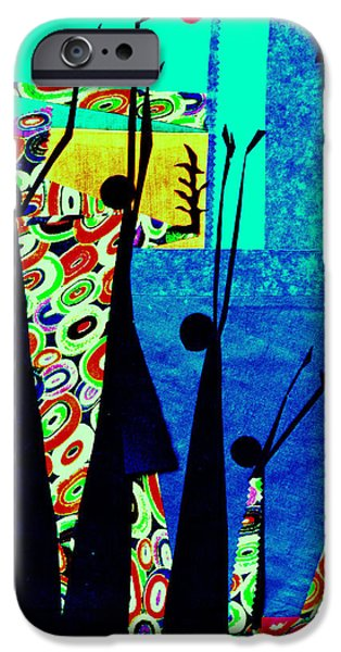 People Tapestries - Textiles iPhone Cases - Praise for Everything iPhone Case by Ruth Yvonne Ash