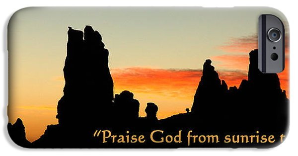 Nation iPhone Cases - Praise God from Sunrise to Sunset iPhone Case by George Buxbaum