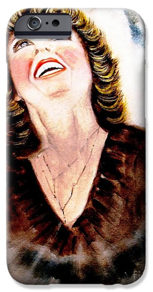 Spiritual Portrait Of Woman iPhone Cases - Praise is My Spiritual Weapon iPhone Case by Hazel Holland