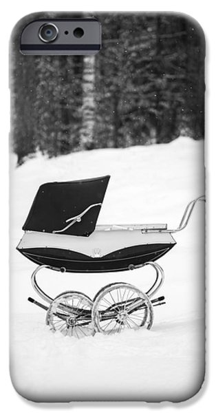 Buggy iPhone Cases - Pram in the Snow iPhone Case by Edward Fielding
