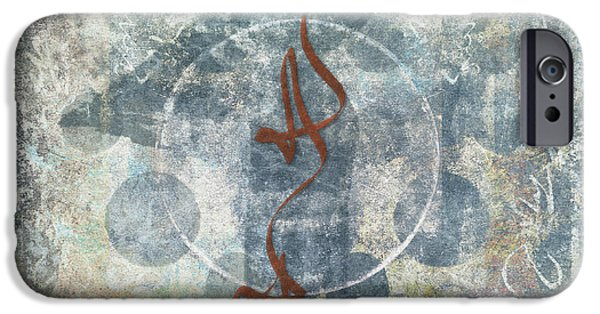 Photomontage iPhone Cases - Prayer Flag 12 iPhone Case by Carol Leigh