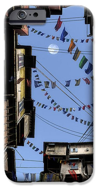 Tibetan Buddhism iPhone Cases - Prayer Flags iPhone Case by Cynthia Decker