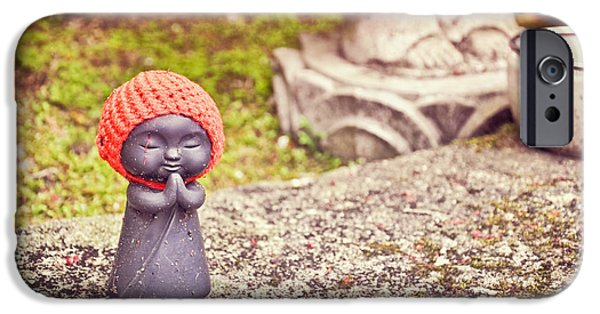 Buddhist iPhone Cases - Prayer for a child iPhone Case by Delphimages Photo Creations