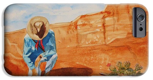 Sedona iPhone Cases - Prayer for Earth Mother iPhone Case by Ellen Levinson