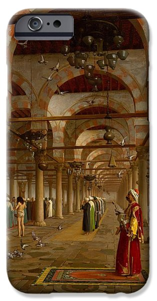 Prayer in the Mosque iPhone Case by Jean-Leon Gerome