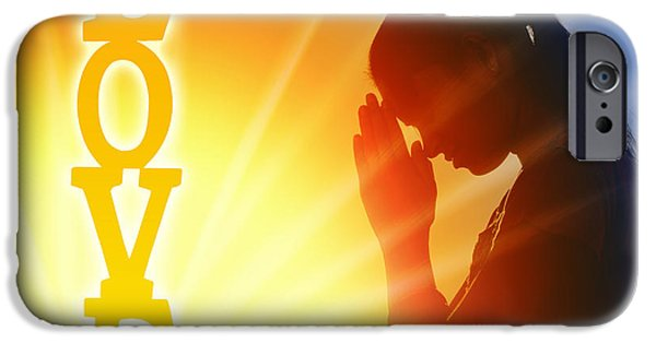 Innocence iPhone Cases - Prayer of Love iPhone Case by Tim Gainey