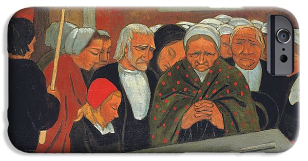 Adoration iPhone Cases - Prayer to Saint Herbot iPhone Case by Paul Serusier