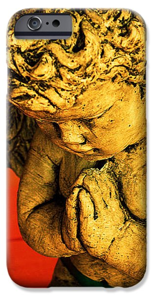 Praying Angel iPhone Case by Susanne Van Hulst
