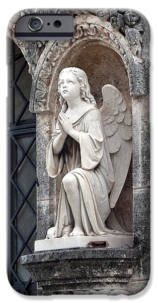 Seraphim Angel iPhone Cases - Praying Angel iPhone Case by Terry Reynoldson