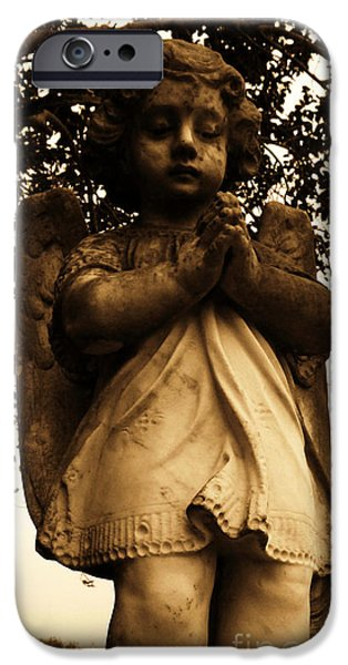 Usa Sculptures iPhone Cases - Praying Girl iPhone Case by Nathan Little