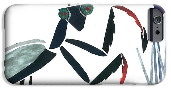 Invertebrates Mixed Media iPhone Cases - Praying Mantis iPhone Case by Earl ContehMorgan