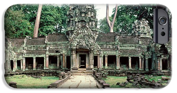 Buddhist iPhone Cases - Preah Khan Temple, Angkor Wat, Cambodia iPhone Case by Panoramic Images