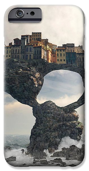 Drama iPhone Cases - Precarious iPhone Case by Cynthia Decker