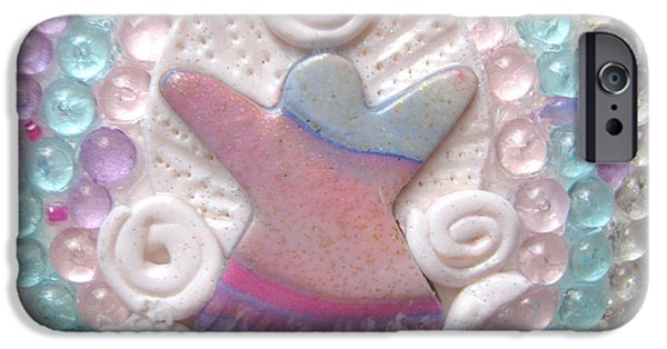 Angel Reliefs iPhone Cases - Precious graceful sweetheart detail iPhone Case by Heidi Sieber