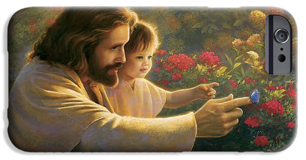 Religious Art iPhone Cases - Precious In His Sight iPhone Case by Greg Olsen