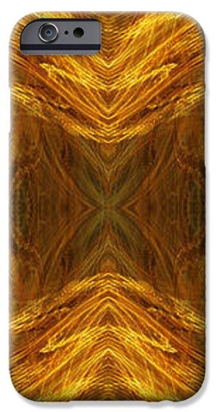 Precious Metal 3 Ocean Waves Dark Gold iPhone Case by Andee Design