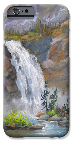 Park Scene Paintings iPhone Cases - Precipitous Falls iPhone Case by Mohamed Hirji