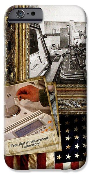 Flag iPhone Cases - Precision Measurement Equipment Laboratory --- Vintage 3 iPhone Case by Reggie Saunders