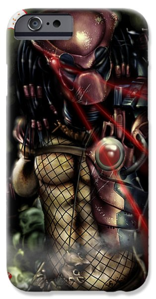Xmen iPhone Cases - Predapool iPhone Case by Pete Tapang
