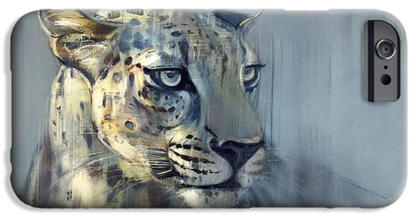 On Paper Paintings iPhone Cases - Predator II iPhone Case by Mark Adlington