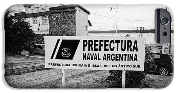 Coastguard iPhone Cases - prefectura naval base argentina Ushuaia Argentina iPhone Case by Joe Fox