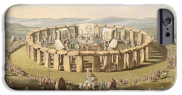 Briton iPhone Cases - Prehistoric Festival At Stonehenge iPhone Case by British Library