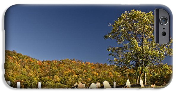 Cemetary iPhone Cases - Premitive Cemetary Near Monterey Tennessee iPhone Case by Douglas Barnett