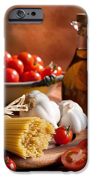 Spaghetti iPhone Cases - Preparation Of Italian Spaghetti Pasta iPhone Case by Amanda And Christopher Elwell