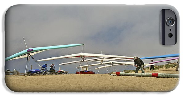 Ready To Fly iPhone Cases - Preparing for Flight at Marina State Beach iPhone Case by SC Heffner