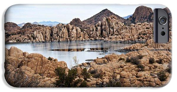 Prescott iPhone Cases - Prescott Arizona Winter Dells I iPhone Case by Lee Craig