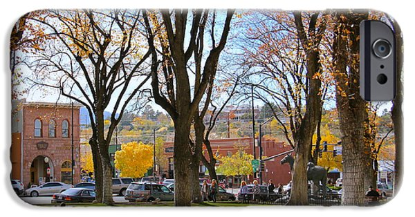 Prescott iPhone Cases - Prescott in the Fall iPhone Case by Suzanne Oesterling