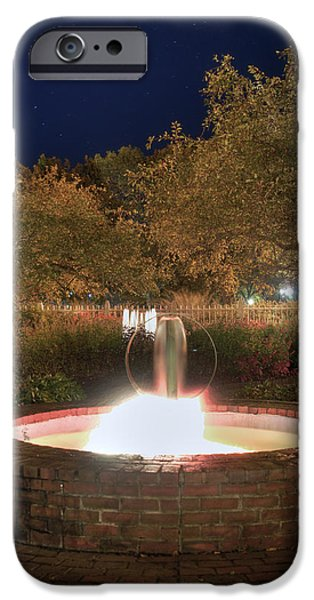 Prescott Park Fountain iPhone Case by Joann Vitali