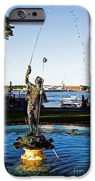 Prescott iPhone Cases - Prescott Park Fountain iPhone Case by Kevin Fortier