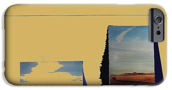 Prescott iPhone Cases - Prescott Valley collage Prescott Valley Arizona 2001-2012 iPhone Case by David Lee Guss