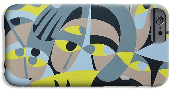 Figure iPhone Cases - Presence Iii, 1987 Acrylic On Board iPhone Case by Ron Waddams
