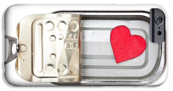 Symbol Sculptures iPhone Cases - Preserved heart iPhone Case by Shawn Hempel
