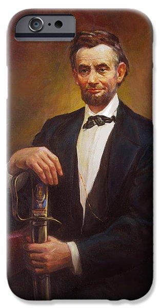 President Abraham Lincoln iPhone Case by Svitozar Nenyuk